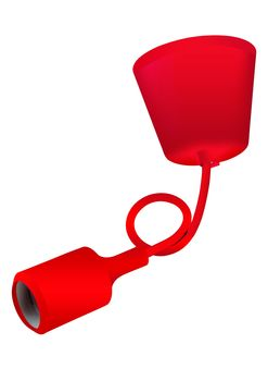 Suspension silicone rouge Girard Sudron