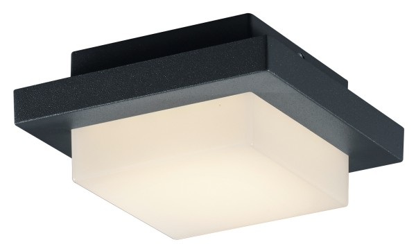 Plafonnier Carré Anthracite Hondo à Led Ip54