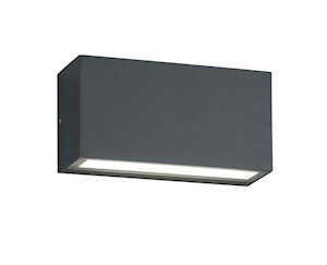 Applique de jardin led 2x5W TRENT anthracite IP65
