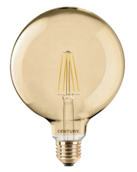 Globe 125mm filament LED 10W E27 ambre dimmable