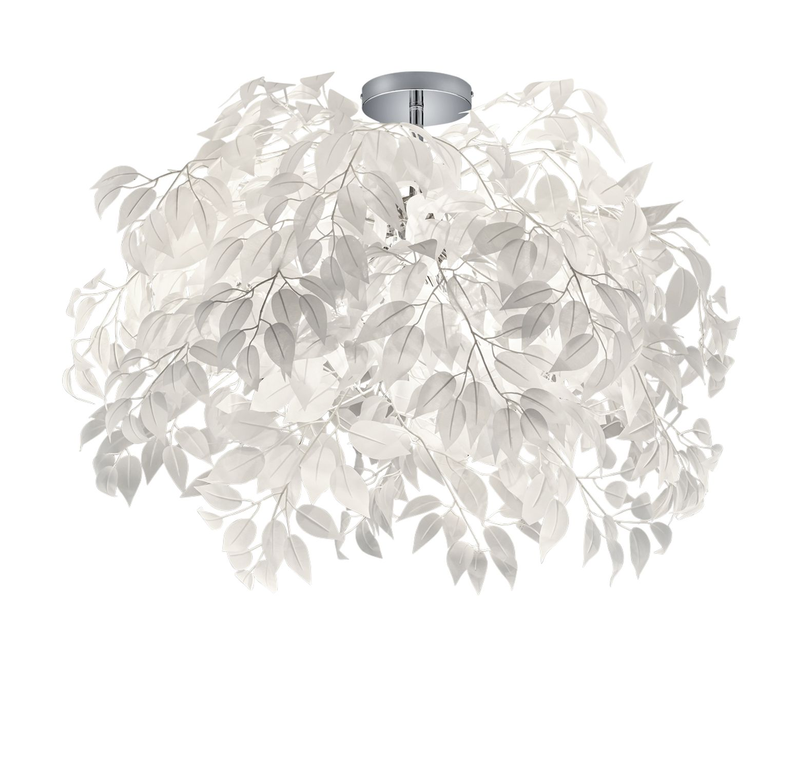 Plafonnier  feuilles blanches LEAVY de TrioLighting