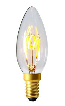 Ampoule Flamme Led DECO claire 3 LOOPS 3W E14