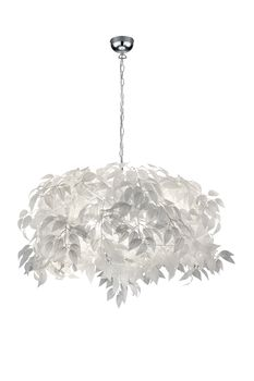 Suspension feuilles blanches LEAVY de TrioLighting
