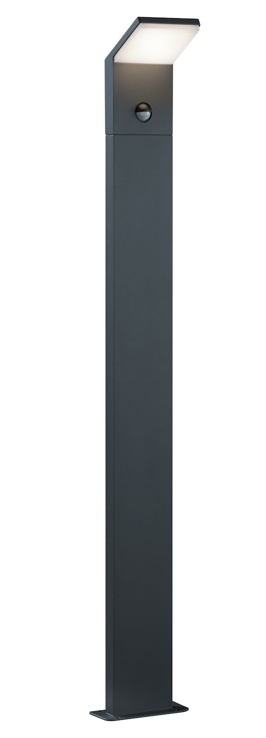 potelet ext rieur pearl led et d tecteur anthracite ip54. Black Bedroom Furniture Sets. Home Design Ideas