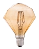Globe facette ambre filament LED 4W E27 FARO