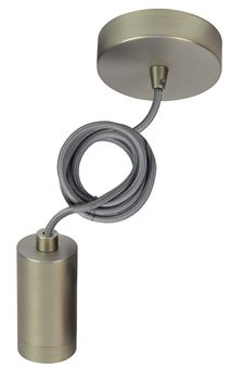 Suspension nickel et fil textile gris Girard Sudron